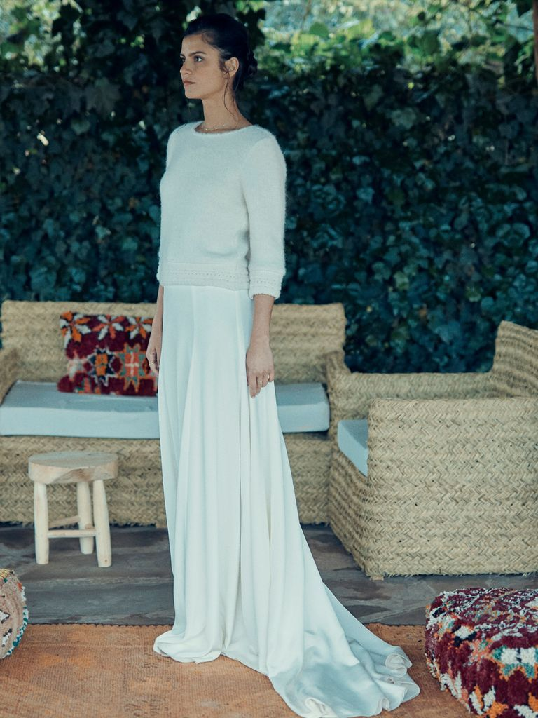 See Laure De Sagazan Wedding Dresses From Bridal Fashion Week In 2020 Bridal Skirts Wedding Dress Long Sleeve Wedding Dresses Lace [ 1024 x 768 Pixel ]