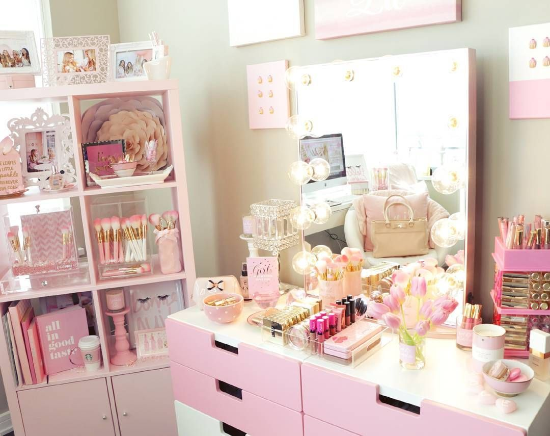 Makeup vanity inspiration popsugar beauty uk house pinterest