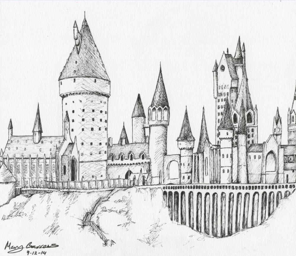 Hogwarts Coloring Pages Hogwarts Castle Free Colouring Pages Hogwarts Castle Drawing Hogwarts Art Castle Castle Coloring Page