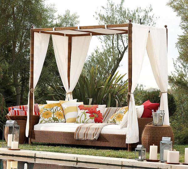 Outdoor daybed | Garden | Outdoor daybed, Outdoor wicker ...
