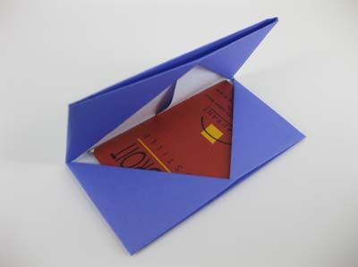 origami cardholder instructions