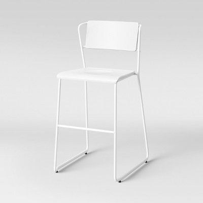 Superb Set Of 2 Killiam Mixed Material Sled Counter Stool White Pdpeps Interior Chair Design Pdpepsorg