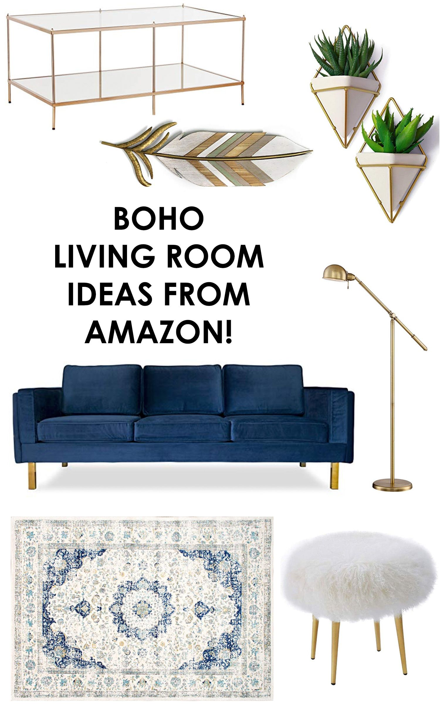 Boho Living Room Ideas Boho Decor Mid Century Modern Decor Gold Coffee Table Pla Blue Couch Living Room Blue Sofas Living Room Blue Velvet Sofa Living Room