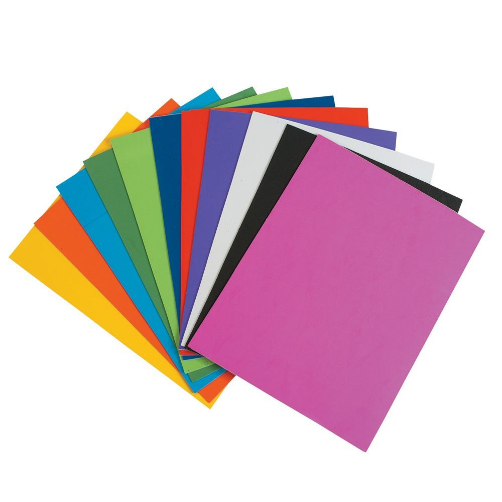 "Craft Foam Sheets A4 /""Self Adhesive/"" Pack of 10 Assorted Colours EVA"