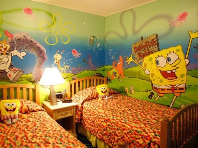 Gambar Ide Dekorasi Kamar Anak Bertema Spongebob Kesayangan