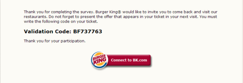 My Burger King Experience Survey WwwEvaluabkCom  Customer
