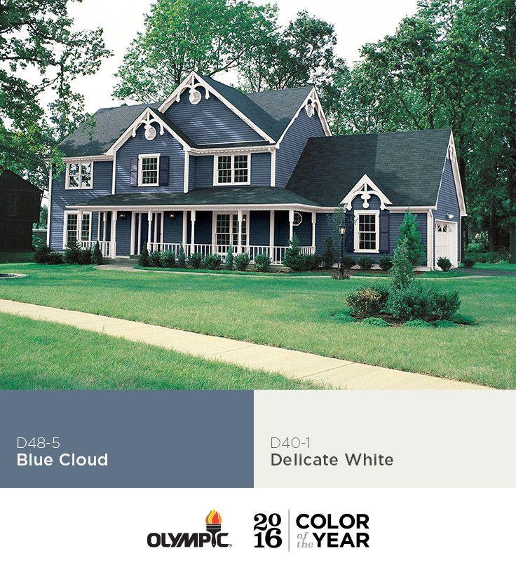 Blue cloud paint color glidden paint colors olympic - Exterior house paint colors 2016 ...