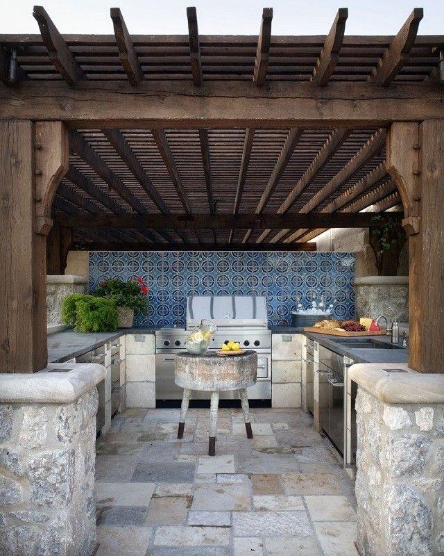 Barbacoas de obra y cocinas exteriores Pergolas, Patios and Doors