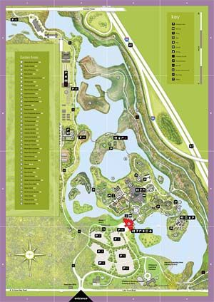 Charmant Chicago Botanic Garden Map