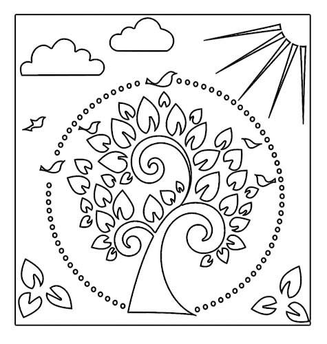 tree of life stencil template art pages pinterest templates