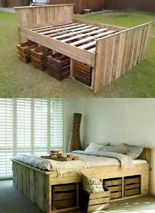 Skid Bed Pallet Furniture Diy Bed Home Decor