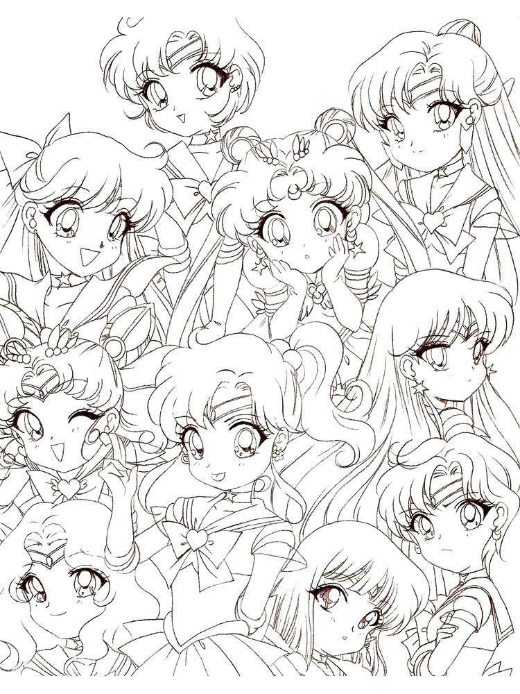 Pin By Best Drawing On Tranh Sailor Moon Coloring Pages Chibi Coloring Pages Coloring Pages