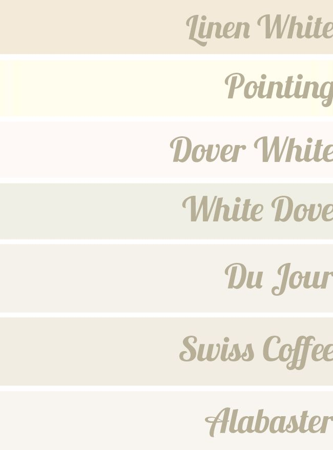 Favorite whites linen white pointing dover white for Dove white paint color