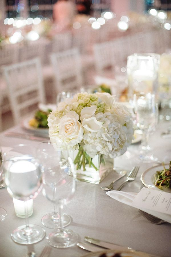 Classy And Beautiful New York Wedding Modwedding Wedding Centerpieces Hydrangeas Wedding Wedding Flowers