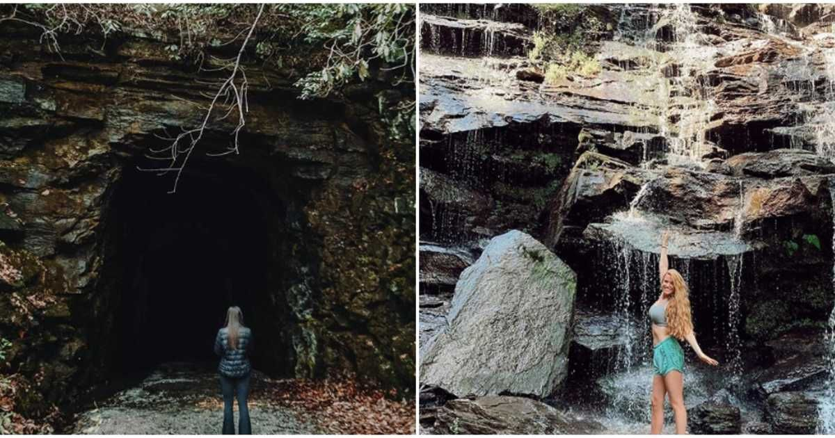 Photo of This State Park Only 2 Hours From Atlanta Has a Creepy Tunnel With A Waterfall