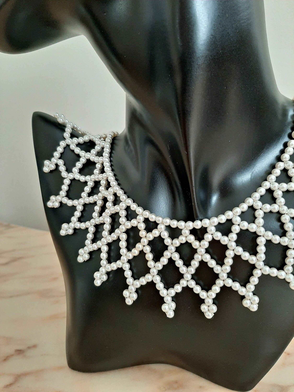 collier perle plastron