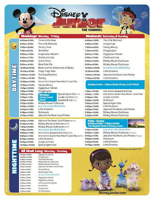 new disney junior channel schedule good to know since i actually rh pinterest com Printable DirecTV Channel Guide 2016 direct tv printable channel guide 2018