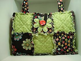 Lady & the Stamp: Rag Quilt Purses | Sewing | Pinterest | Rag ... : rag quilt bag - Adamdwight.com