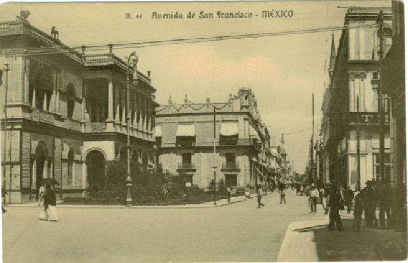 Avenida san francisco cuyo nombre ahora es avenida madero for Casa de los azulejos ciudad de mexico cdmx