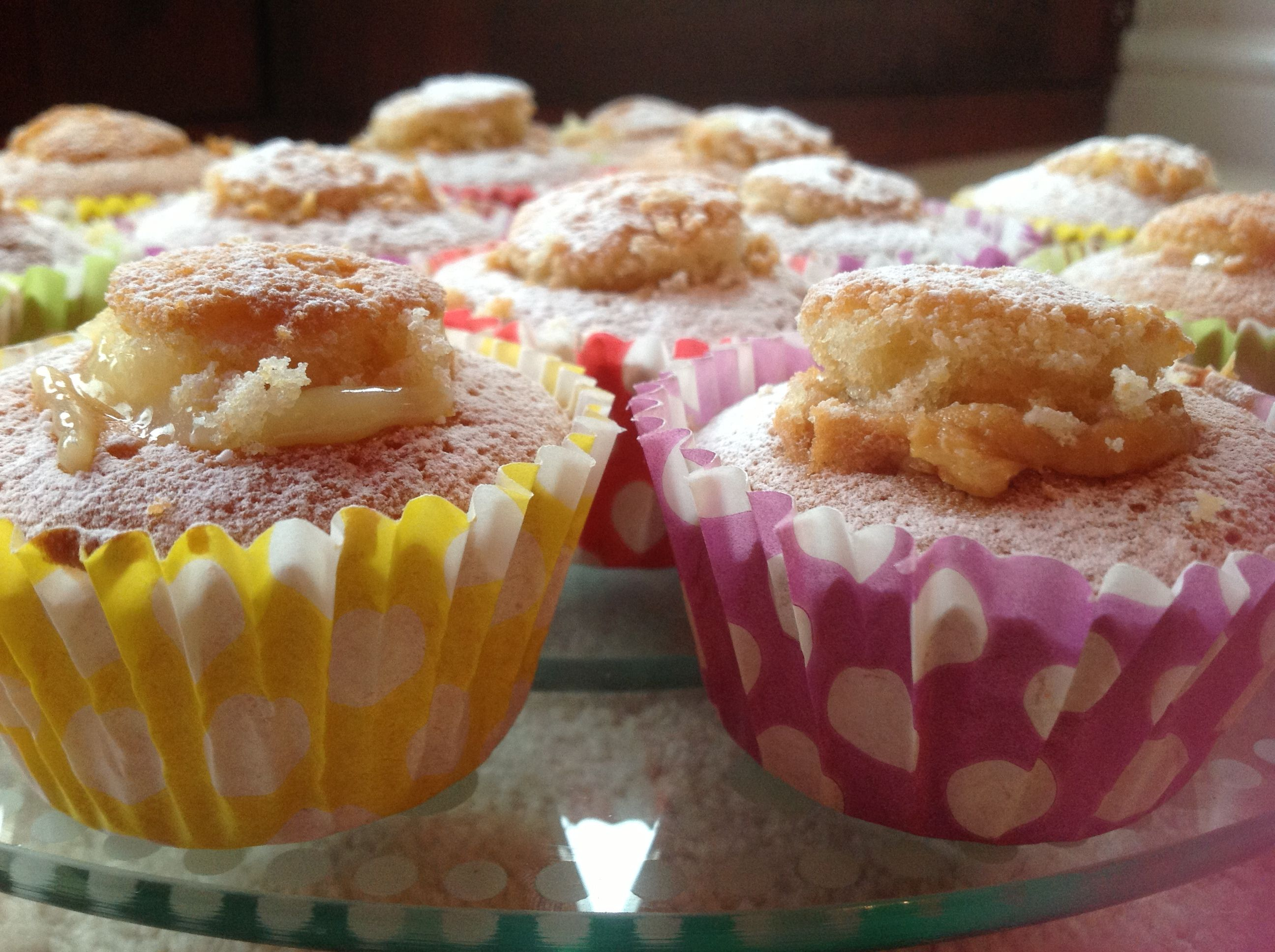 These butterfly cakes filled with Lemon Curd and Peanut butter will brighten any rainy day! Delicious!!!!