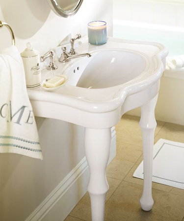Pottery Barn Parisian Pedestal Sink Console {upstairs Bath}