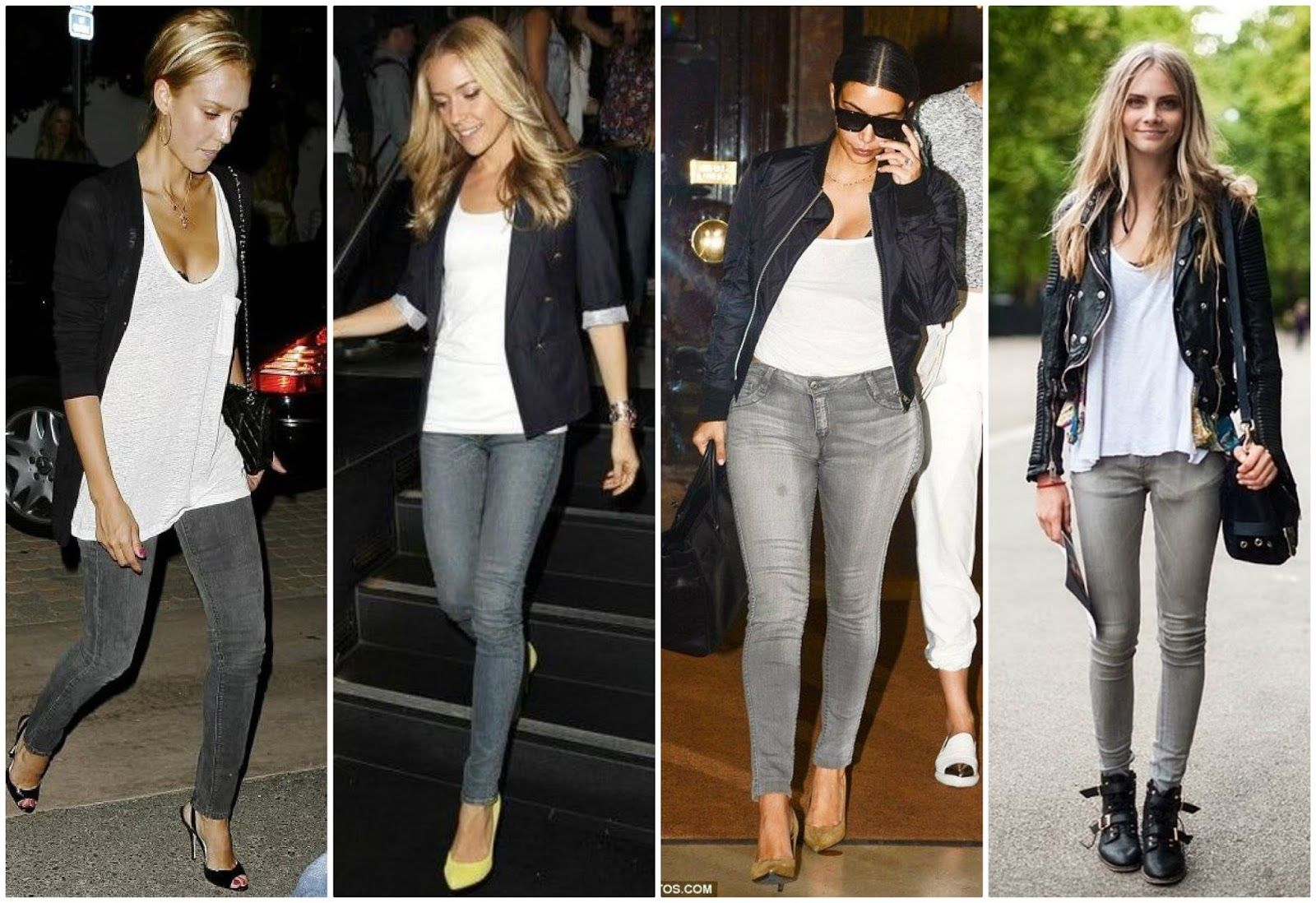 Grey Jeans Outfits