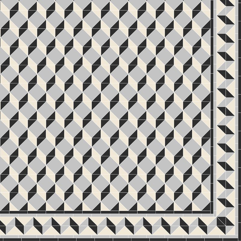 Create your own Art Deco inspired pattern like this one, which was made  using invididual square and triangle tiles from the Victorian Floor Tiles  Collection ...