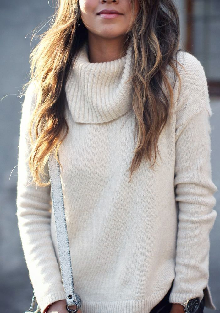 Cream turtleneck sweater | S T Y L E | Pinterest | Fall winter ...
