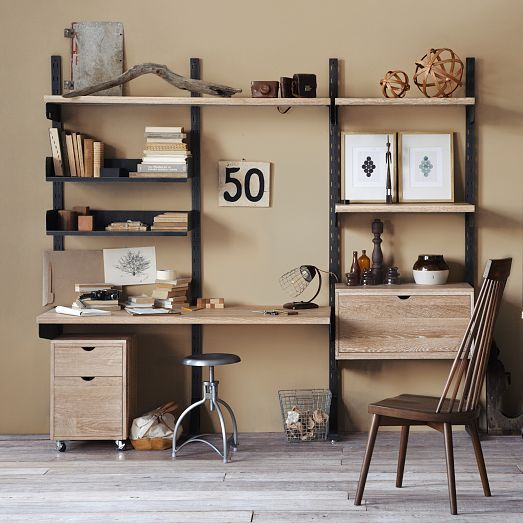 The Industrial Steel Frames And Solid Oak Shelves Drawers And