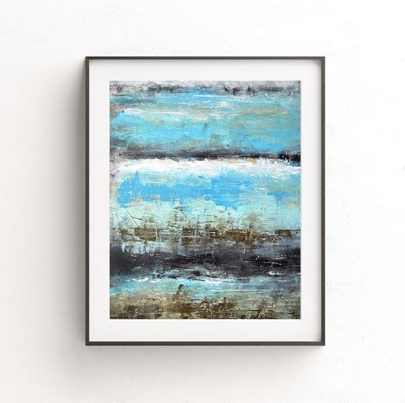 Abstract Print Digital Download Blue Printable Wall Decor Art Print
