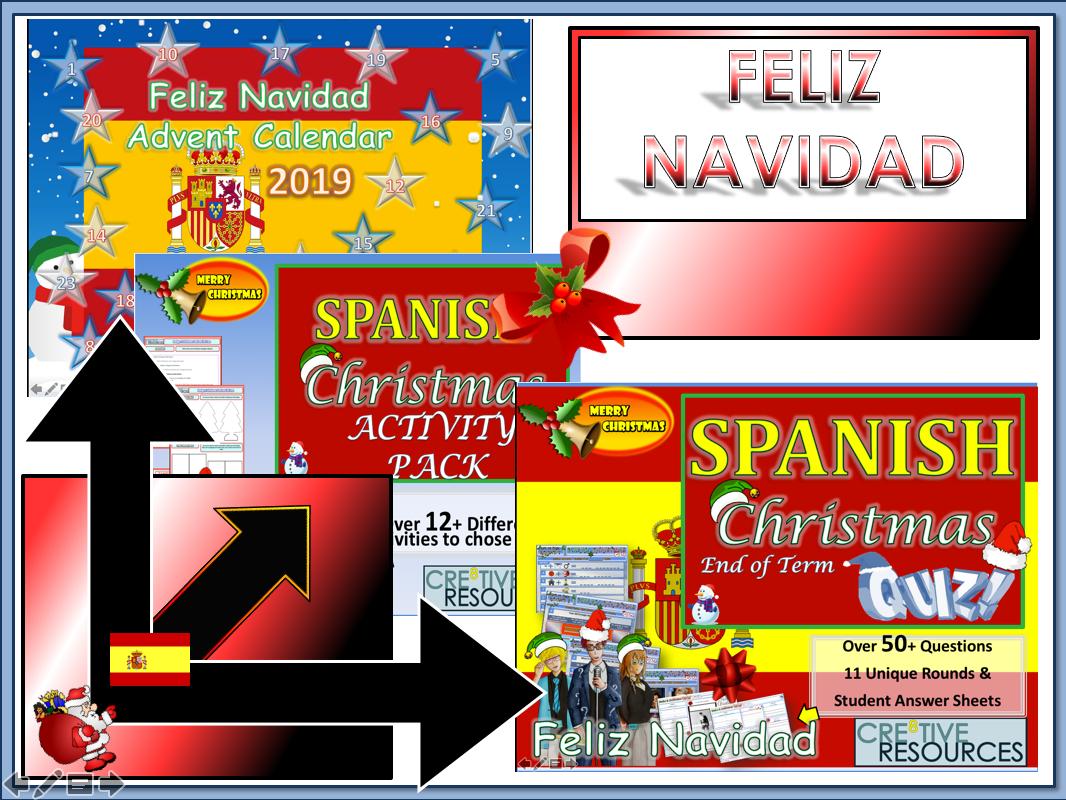 Spanish Christmas Mfl Quiz Activities And Workbook