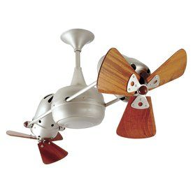 Matthews Duplo Dinamico 12-In Brushed Nickel Downrod Mount Ceiling Fan