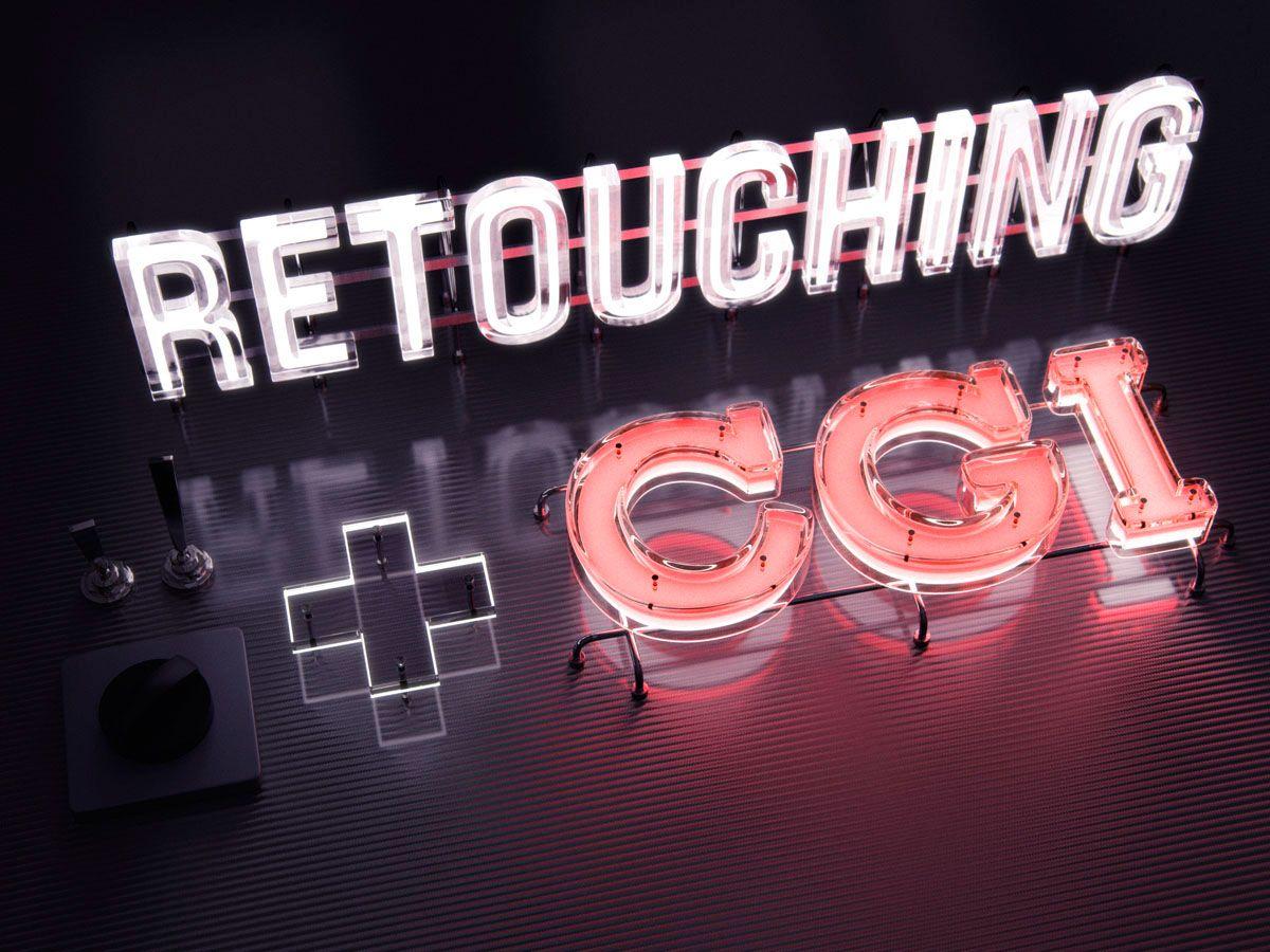 Neon Light Portrait On Behance: Retouching + CGI On Behance In 2020