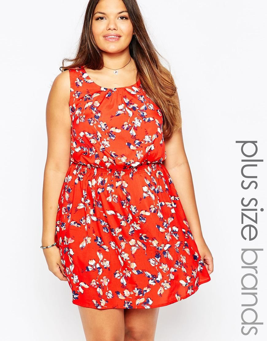 Image of new look inspire floral print skater dress curvaceous
