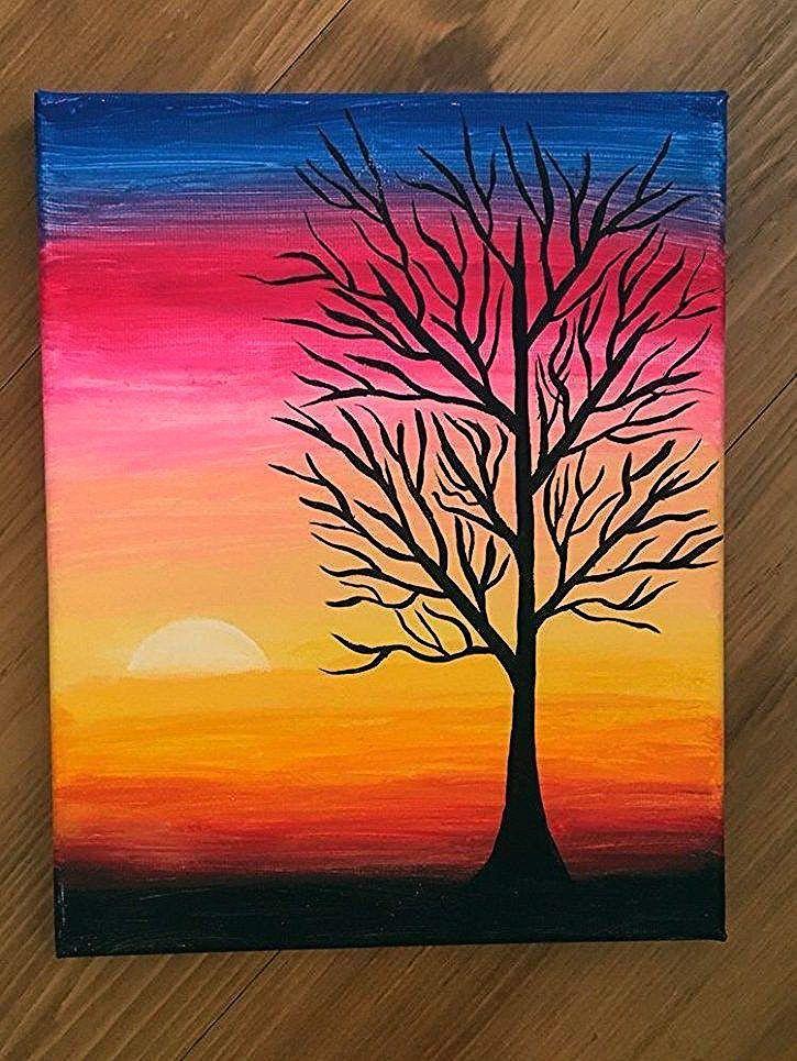 40 Acrylic Painting Tutorials Ideas For Beginners Oil Pastel Art Oil Pastel Filmmakin Simple Canvas Paintings Beautiful Art Paintings Diy Canvas Art