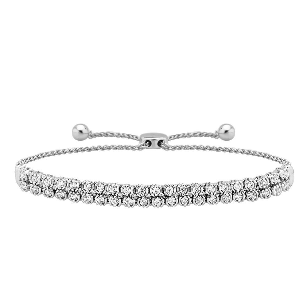 ct white diamond bracelet womens row tennis link design k