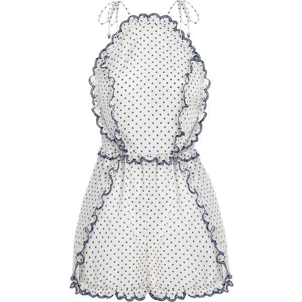 bf8a2b76ca Zimmermann Ceramic Pinafore Playsuit ( 440) ❤ liked on Polyvore featuring  jumpsuits