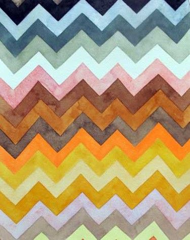 chevron watercolor