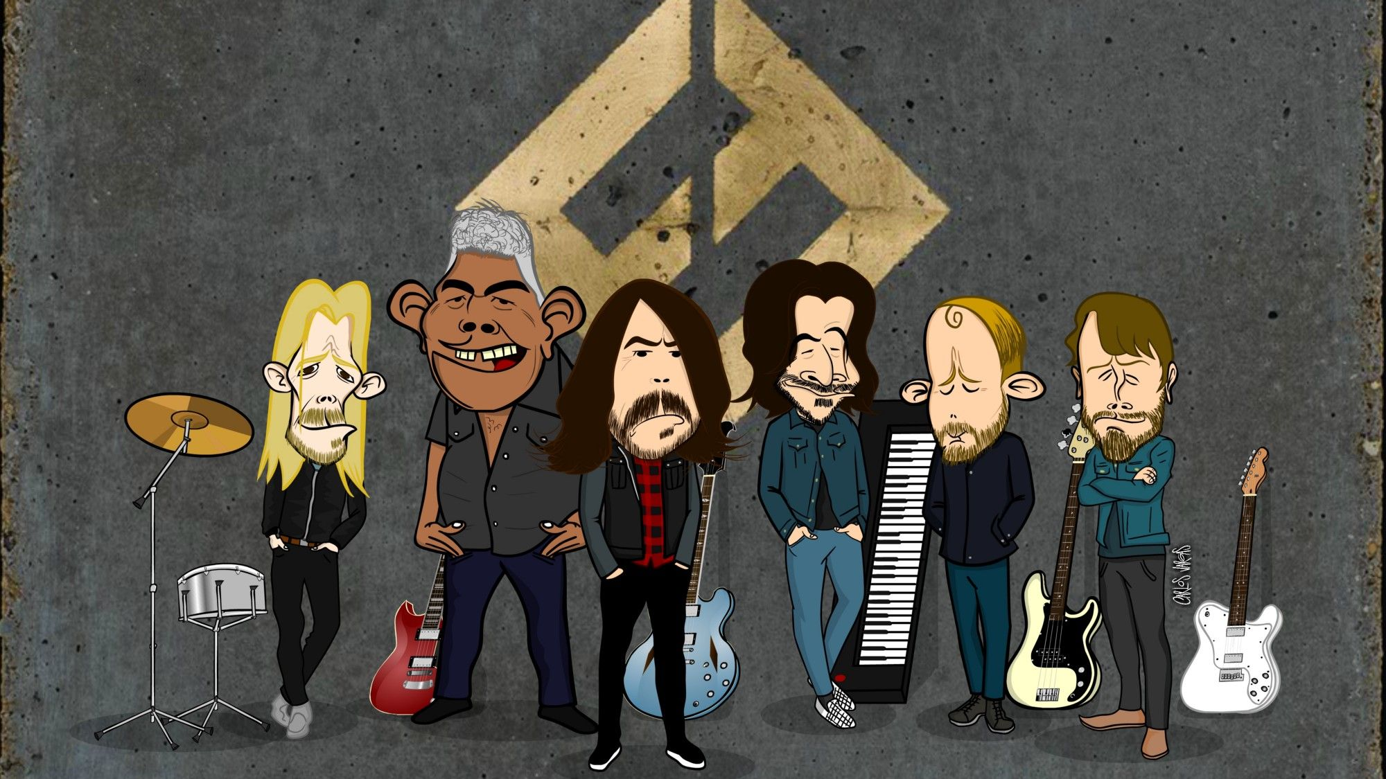 The Art Of Foo Fighters Concrete And Gold Kurt Cobain