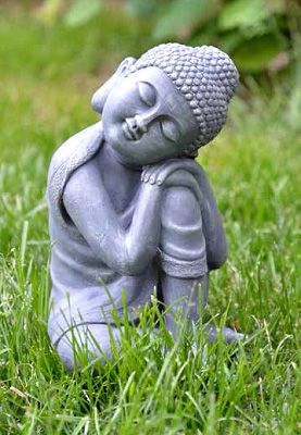 Delicieux Peaceful Resting Buddha Is Absolutely Adorable.   Buddha Garden Statues  Garden Statues