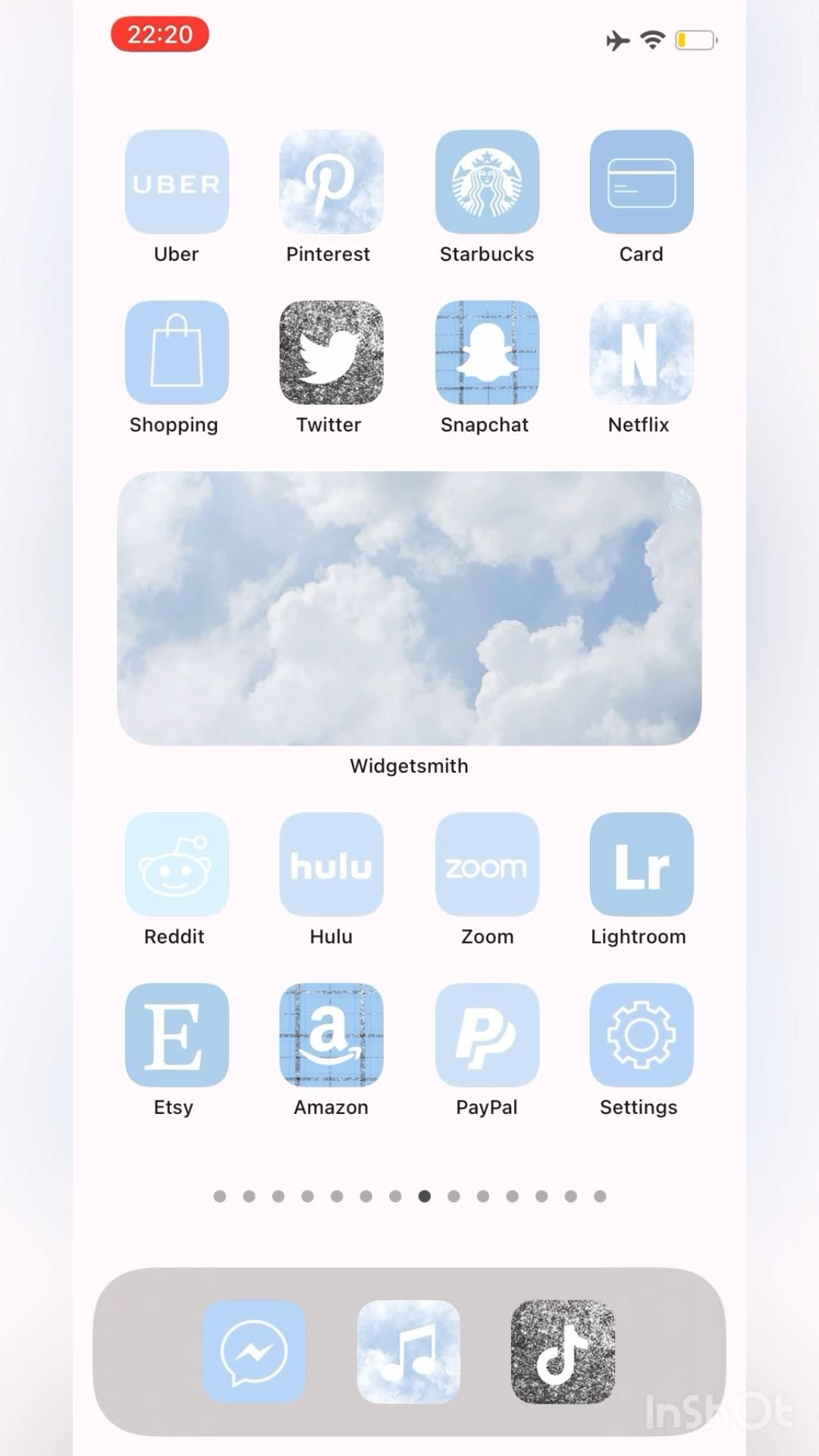 iOS 14 App Icons Sky Blue, Widgetsmith, Custom Hom