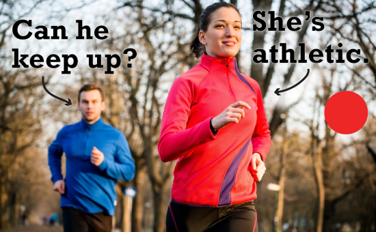 Consider this before dating an athletic girl running