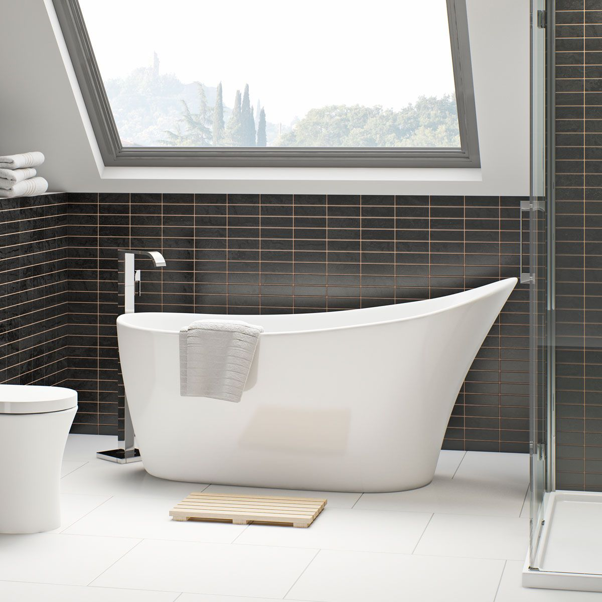 Mode Hardy freestanding bath 1600 x 750   Freestanding bath, Bath ...