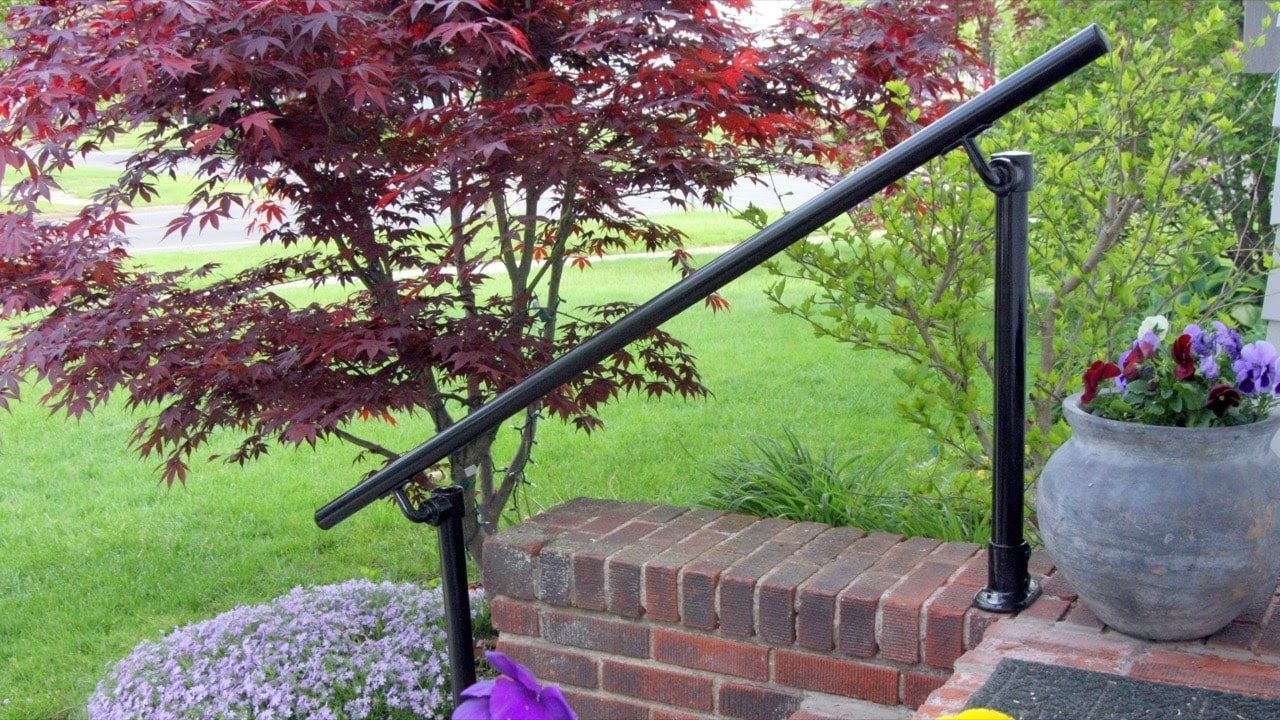 How to Install a Step Handrail - YouTube   Outdoor ...