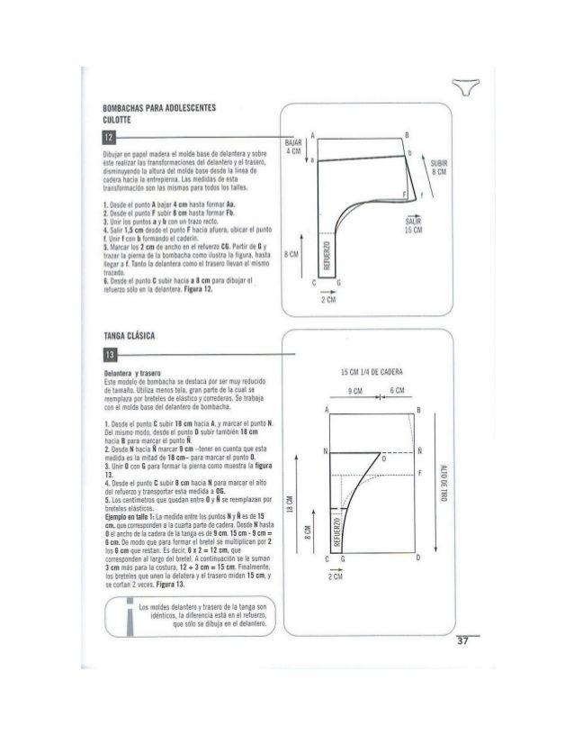 Resultado de imagen para culotte tiro alto molde | COSTURAS&PATRONES ...
