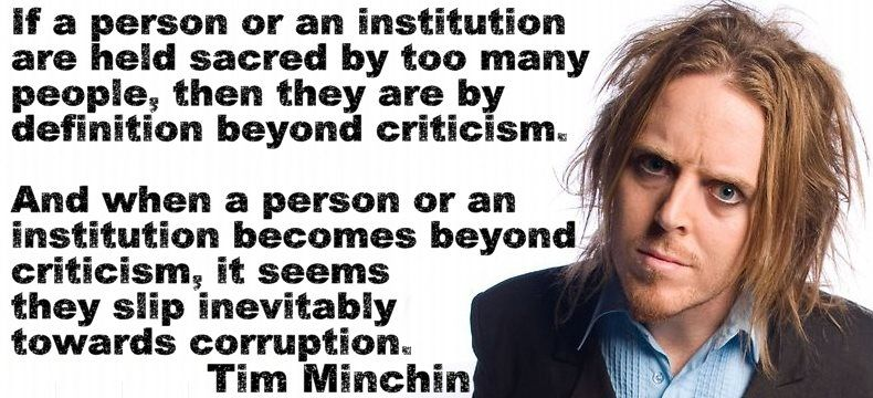 Tim Minchin Is Not Only Funny But Also Very Wise Make A Quote Unforgettable Quotes Quotes To Live By