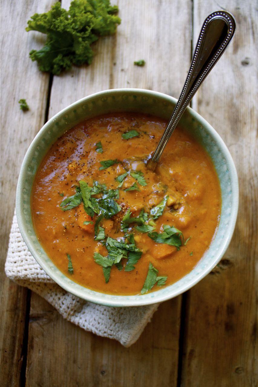 Creamy Vegan Navy Bean Tomato Vegetable Soup Delicious
