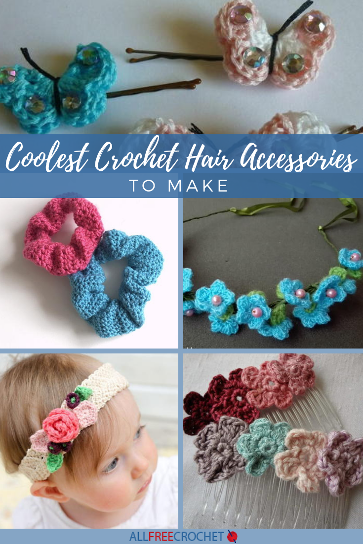 22+ Coolest Crochet Hair Accessories to Make