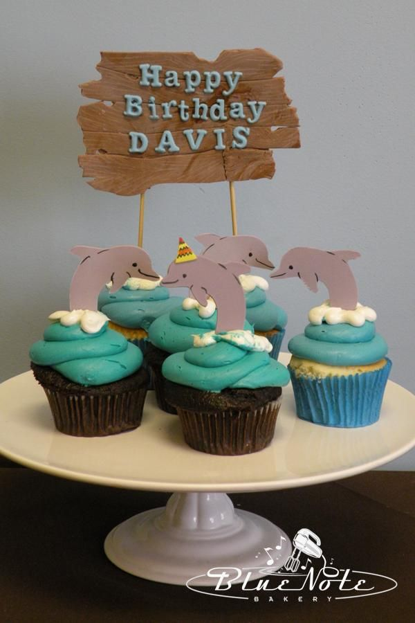 Dolphin Cupcakes | Blue Note Bakery - Austin, Texas
