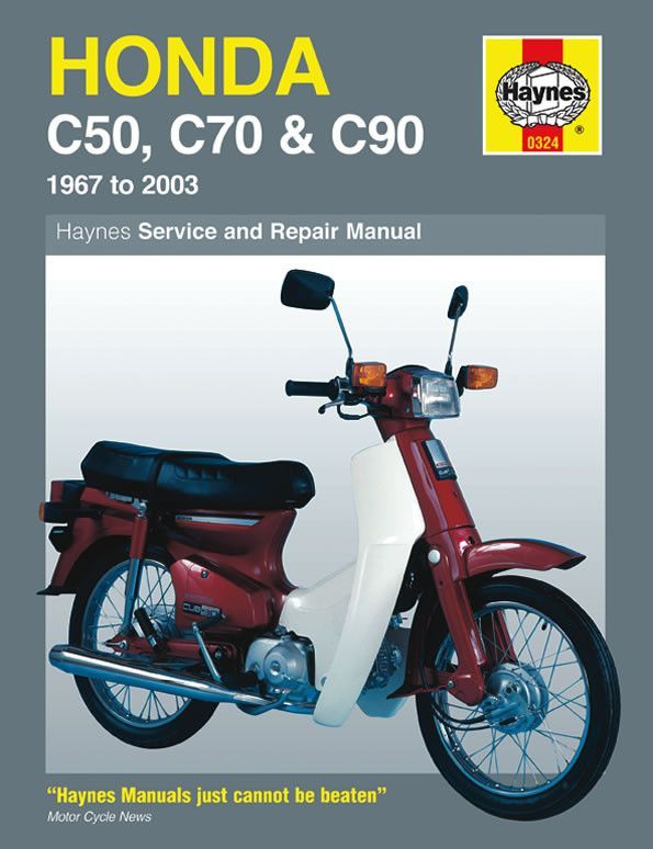 haynes m324 service repair manual for 1967 03 honda c50 c70 rh pinterest com Suzuki Mexico Suzuki Ninja